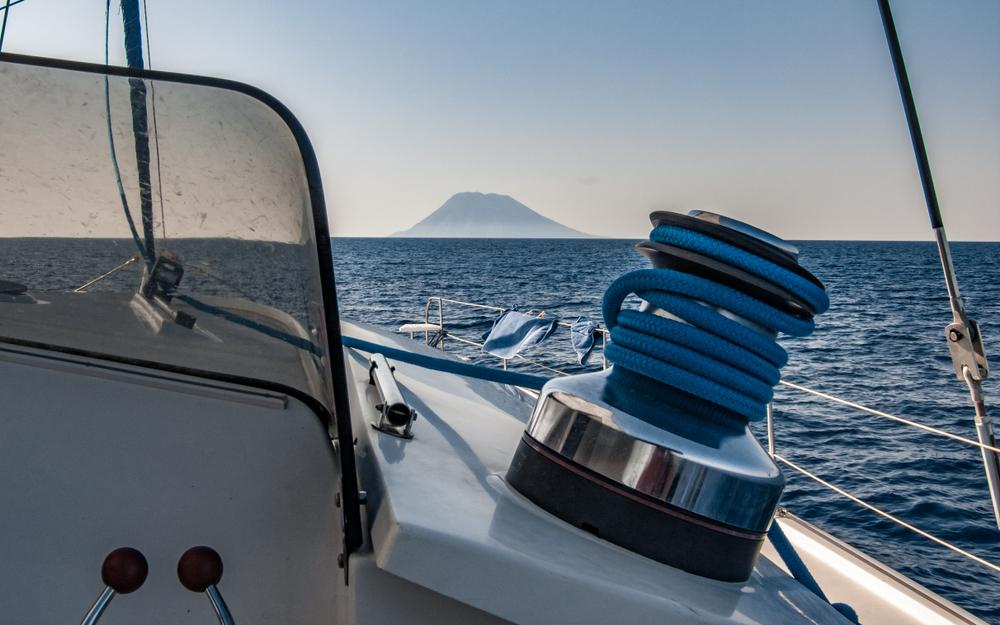 Mar Tirreno Veduta di Stromboli