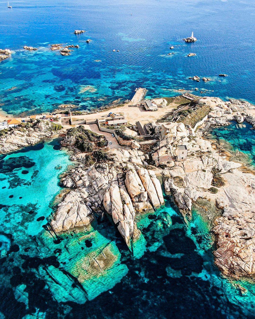Aerial of La Maddalena