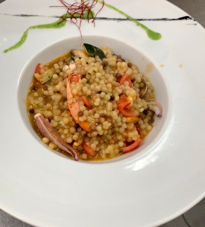Fregola dish by Zi Antò