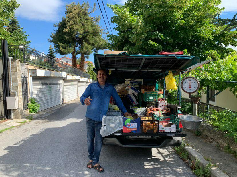 Frutta a verdura al mercato di Vathy