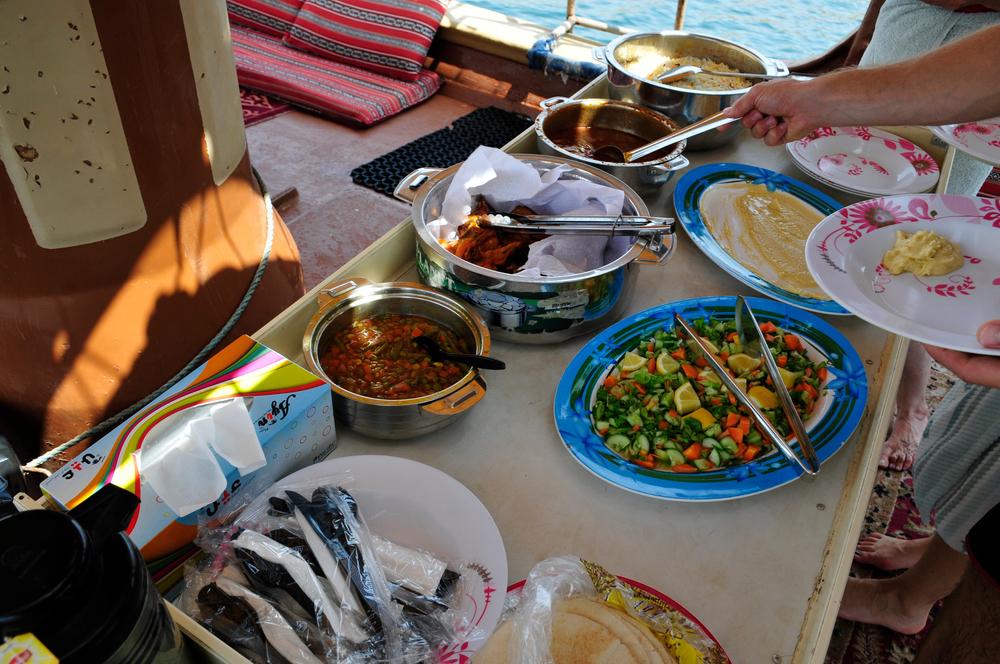 Eating on board is fun!